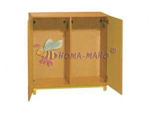 mobiliario guarderias armario medio con perchas y puertas