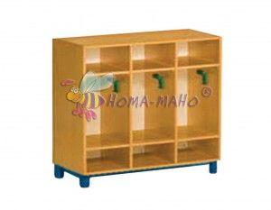 Mobiliario-guarderias-gavetero doble con perchas