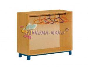 mobiliario-guarderias armario medio con perchas
